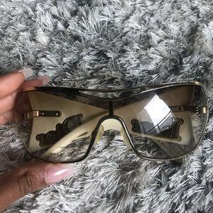 White and Gold Dior Sunglasses